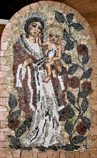 Mozaika Madona s granátovými jablky