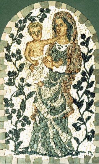 Mozaika Madona s olivami