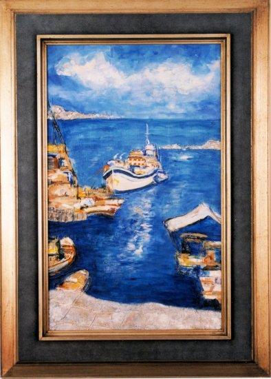 Obraz V přístavu
