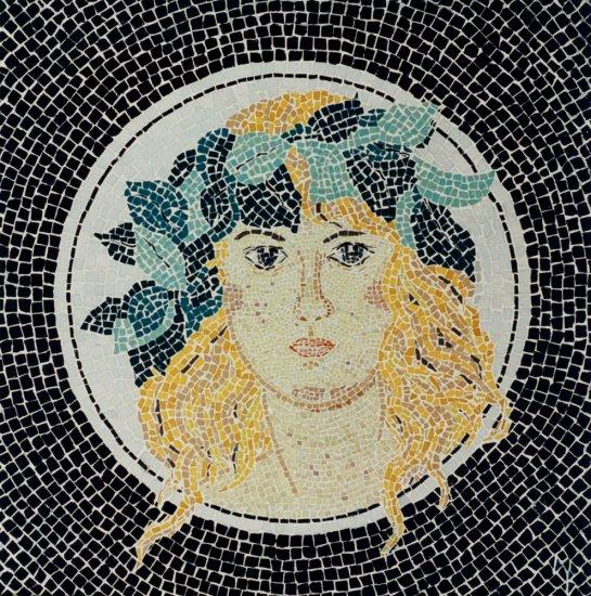 Mozaika Žena s věncem vavřínu