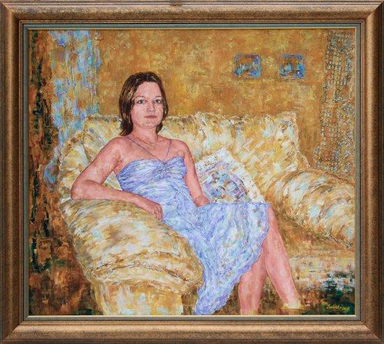 Obraz Dívka na divanu