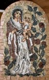 Mosaic Madonna With Pomegranate