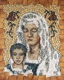 Mosaic Madonna With Lilies