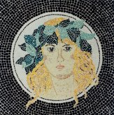Mosaic Woman With Laurel Wreth