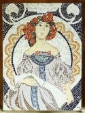 Mosaic Sitting Woman