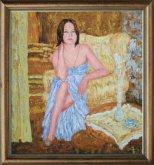 Obraz Dívka u stolečku