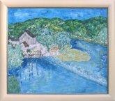 Painting mill at river berounka