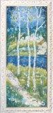 Painting three birch trees