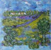"""Obraz Obraz """"Čekání"""" je první částí triptychu nazvaného """"Touhy"""""""