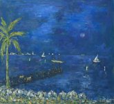 Painting FULL MOON IN CANNES