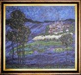 Obraz Krajina za soumraku